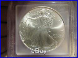 2001 $1 Silver Eagle Icg Ms69 September 11,2001 Wtc Ground Zero Recovery