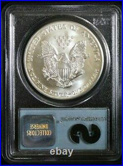 2001 $1 Silver Eagle PCGS Gem Uncirculated 9-11-01 WTC Ground Zero Recovery