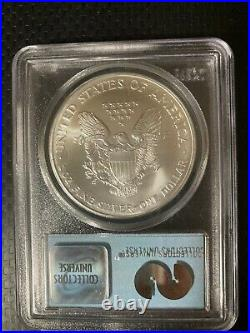 2001 $1 Silver Eagle PCGS Gem Uncirculated WTC Ground Zero Recovery