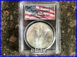 2001 1oz AMERICAN SILVER EAGLE WTC GROUND ZERO RECOVERY 1 OF 1440 GEM UNC
