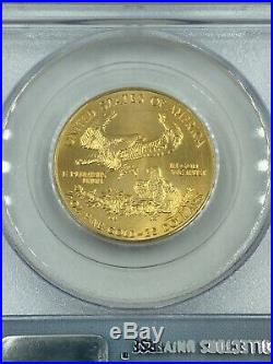 2001 $25 Gold Eagle PCGS Gem Uncirculated WTC Ground Zero Recovery
