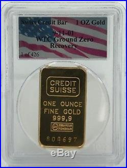 2001 911 Silver Eagle & Credit Suisse Gold Wtc Ground Zero Recovery (aa18)