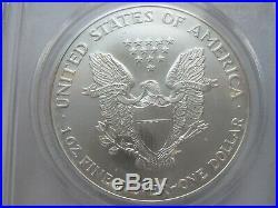 2001 9-11-01 WTC Ground Zero Recovery American Silver Eagle PCGS MS69