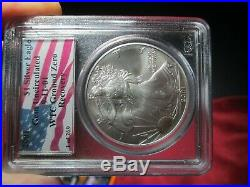 2001 American Gold Silver Eagle September 11 WTC Recovery Coin Set PCGS 1 of 269