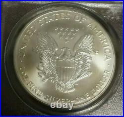2001 American Silver Eagle PCGS Gem Uncirculated 9-11 WTC Ground Zero Recovery