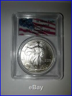 2001 American Silver Eagle WTC Ground Zero 9/11 Recovery Gem Uncirculated PCGS