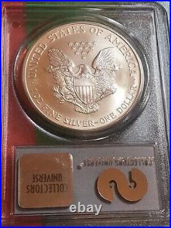 2001 American Silver Eagle WTC Ground Zero Recovery PCGS Gem Uncirculated 9/11