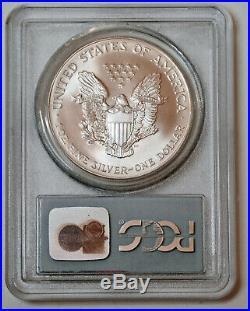 2001 American Silver Eagle Wtc Ground Zero Recovery Pcgs Gem Unc Rare