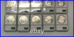 2001 American Silver Eagles By NCM Recovered at WTC Ground Zero Lot of 10