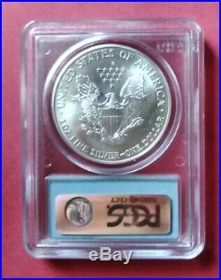 2001 MS69 Barcode Label PCGS World Trade Center WTC Ground Zero Silver Eagle