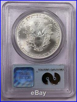 2001 PCGS Gem Uncirculated WTC Ground Recovery Silver Eagle HAS SPOTS READ