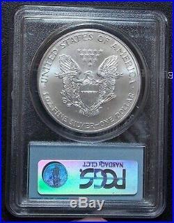 2001 PCGS MS69 Silver Eagle WTC 9/11 Ground Zero Recovery Rare Bar Code Label