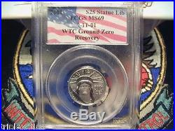 2001 PCGS MS-69 $25 WTC Recovery American Platinum Eagle 1 of 52 Key Coin
