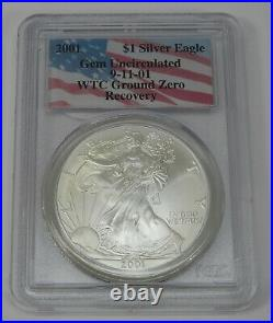 2001 Silver American Eagle WTC Ground Zero Recovery 9-11 PCGS Gem Uncirculated