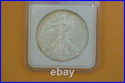 2001 Silver Eagle Dollar 1oz with 160 mg. 999silver recovered at WTC Ground Zero
