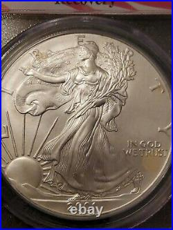 2001 Silver Eagle GEM UNCIRCULATED WTC GROUND ZERO RECOVERY Pcgs