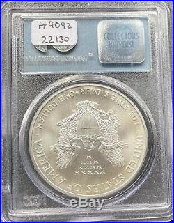2001 Silver Eagle One Dollar 1 oz WTC 9/11 Ground Zero Recovery Coin PCGS #4092