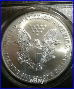 2001 Silver Eagle Pcgs Ms69 9/11 Wtc Ground Zero Recovery Coin 9-11