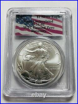 2001 Silver Eagle- WTC World Trade Center Recovery PCGS Gem Uncirculated With COA