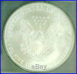 2001 Silver Eagle Wtc Trade Center Recovery 911 Icg Ms70 (3608nam)