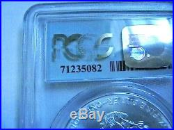 2001-US Silver Eagle $1 PCGS MS69 WTC Ground Zero Recovery SERIAL # 71235082