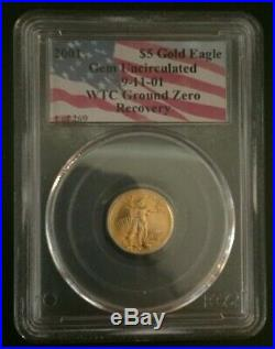 2001 WTC 1 of 269 Gold/Silver 9/11 World Trade Center Recovery 5 Coin Set PCGS