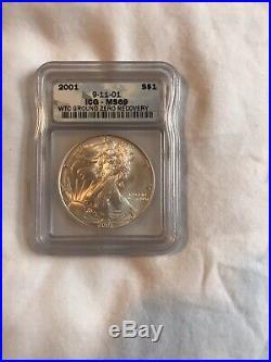 2001 World Trade Center Recovery American Eagle SILVER COIN MS69 BRILLIANT