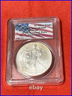 2001 Wtc Silver Eagle Ground Zero Recovery Gem Uncirculated 9-11-01