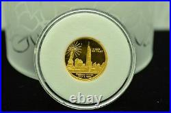 2004 North Mariana Islands $25 Proof Freedom Tower Wtc 1/4 Oz Gold