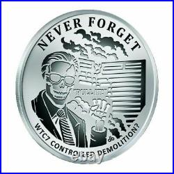 2017 Silver Shield World Trade Center Building 7 Never Forget #10 WTC 7 WTC7