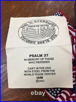 20 th Anniversary -World Trade Center Steel Commemorative Paperweight WTC With COA