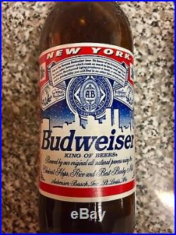 (2) Rare Vintage Budweiser Bud Light Bottles New York City World Trade Center