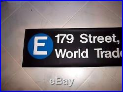 54 NYC SUBWAY SIGN R46 WORLD TRADE CENTER 179th STREET JAMAICA NY ART ROLL SIGN