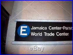 54w Nyc Subway Sign E Train World Trade Center Roll Sign Parsons Jamaica Ny Art