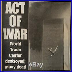 5pc LOT 9/11WORLD TRADE CENTERNEW YORK TIMES POST NEWSDAY DAILY NEWSNewspaper