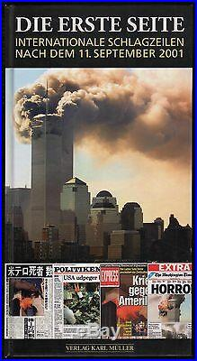 6 Zeitungen + Buch vom Tag danach 11. Sept. 2001 World Trade Center 9/11
