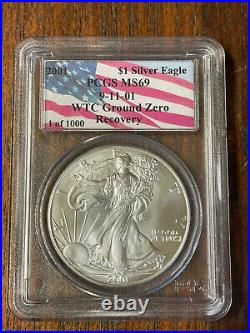 911 Recovery Gold, Silver Eagle Set PCGS MS69, WTC World Trade Center 911