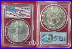 911 Wtc Ground Zero Recovery 1991 Silver Eagle Pcgs Gem Uncirculated