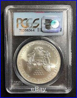9-11-01 Wtc Ground Zero Recovery 2001 American Silver Eagle -gem Unc -pcgs Ms69