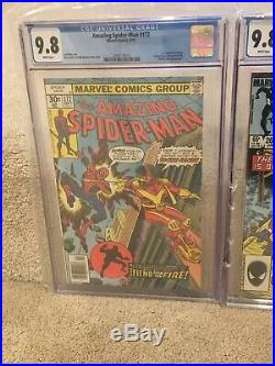 AMAZING SPIDERMAN CGC 9.8 Lot #172,265,285,344,36 WTC, 1st App Silver Sable