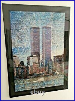 A DAY IN THE LIFE OF NEW YORKWorld Trade CenterA Collage photo PRINT Pre 9/11