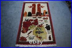 Afghan war rug (world trade center)100%wool imagination war against terrorism