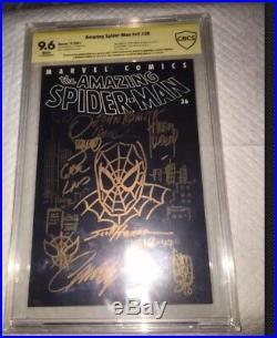 Amazing Spider-Man #36 CBCS 9.6 SS JOHN ROMITA & SKETCH World Trade Center 9/11