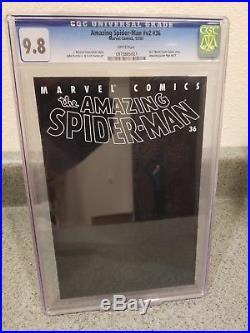 Amazing Spider-Man 36 CGC 9.8 World Trade Center Tribute Marvel September 11th