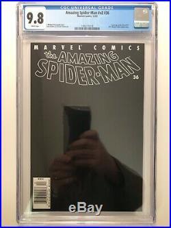 Amazing Spider-Man v2 #36 (Rare NewsStand UPC variant, 9/11 WTC Story) CGC 9.8