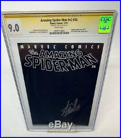 Amazing Spider-Man v2 #36 Stan Lee Signed CGC 9.0 9/11 World Trade Center Cover