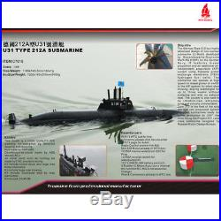 Arkmodel 148 U31 (Type 212A) Aip Submarine Including Double Pump Tank WTC KIT