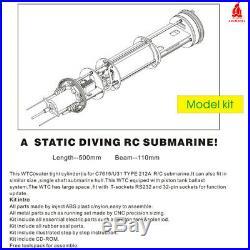 Arkmodel 1/72 WTC Single PUMP TANK KIT OF China RC Submarine 039 Song Class KIT