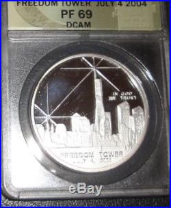 BANNED COIN Signed DAN CARR WTC World Trade Center Recovery FREEDOM TOWER PF69