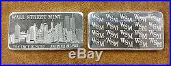 Bjstamps Wall Street Mint 10 oz. 999 Fine Silver Bar World Trade Center Towers